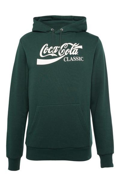 Groene hoodie met Coca-Cola-print
