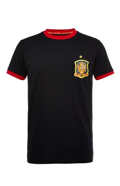 Camiseta de fútbol negra de España