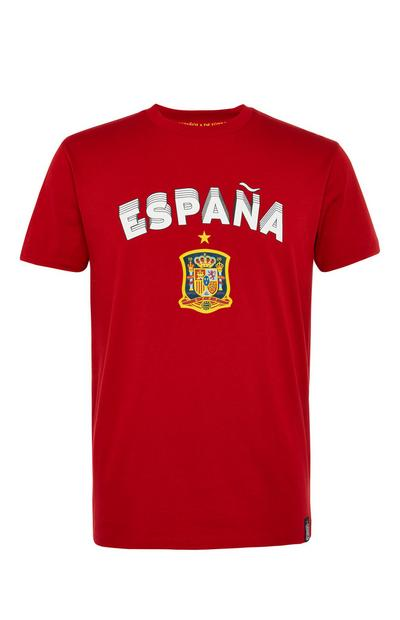 Camiseta de fútbol roja de España