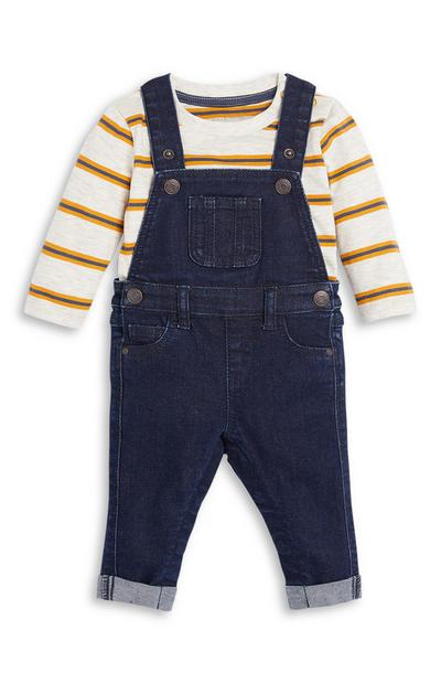 Baby Boy Dungaree and Top Set