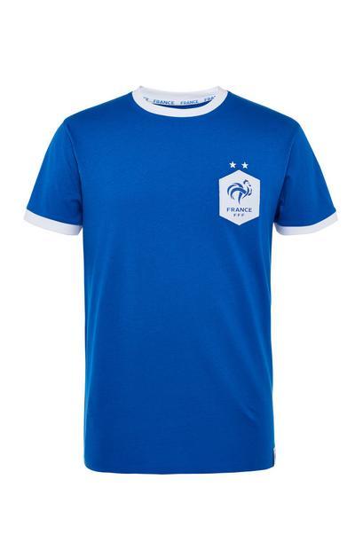 Maglietta blu Europei di calcio Francia