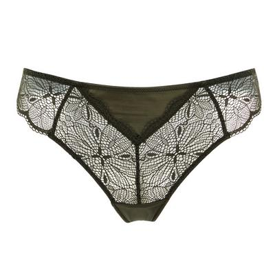 Olive Micro-Lace Thong