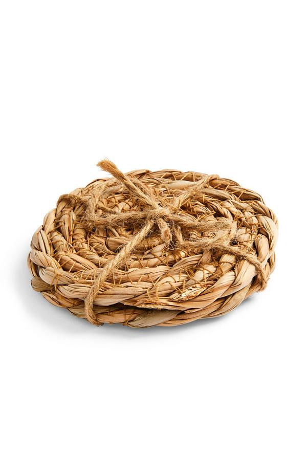 Natural Wicker Coasters 2 Pack