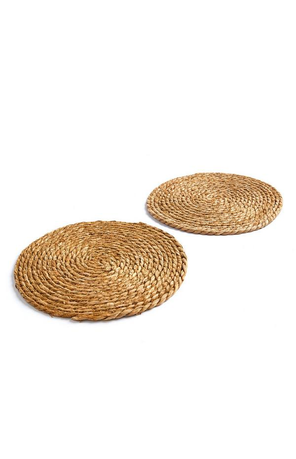 Woven Wicker Placemats 2 Pack