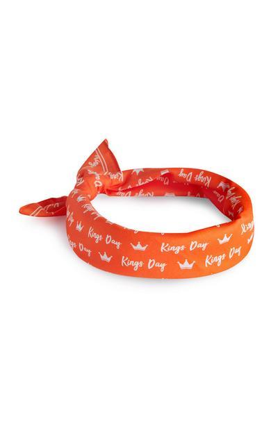 Oranje bandana Koningsdag
