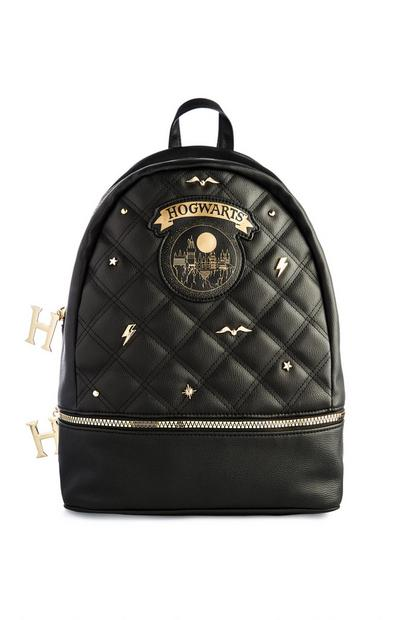 Black Harry Potter Quilted Backpack