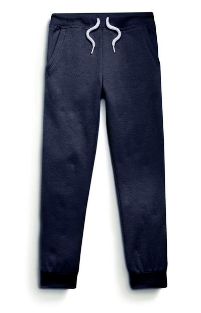 Younger Girls Navy Joggers
