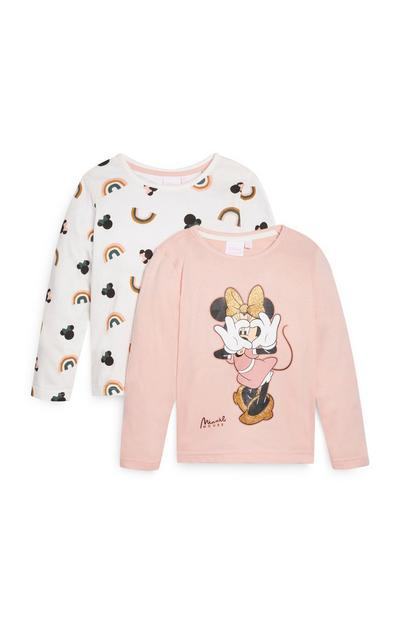 Lot de 2 t-shirts Minnie Mouse fille