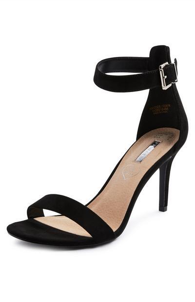 Black Dressy Strap Sandals