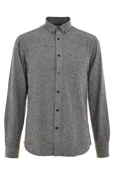 Grey Longsleeved Plain Flannel