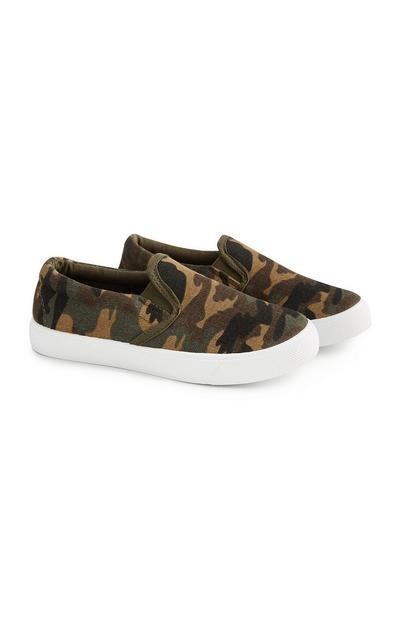 Slip-Ons mit Camouflagemuster