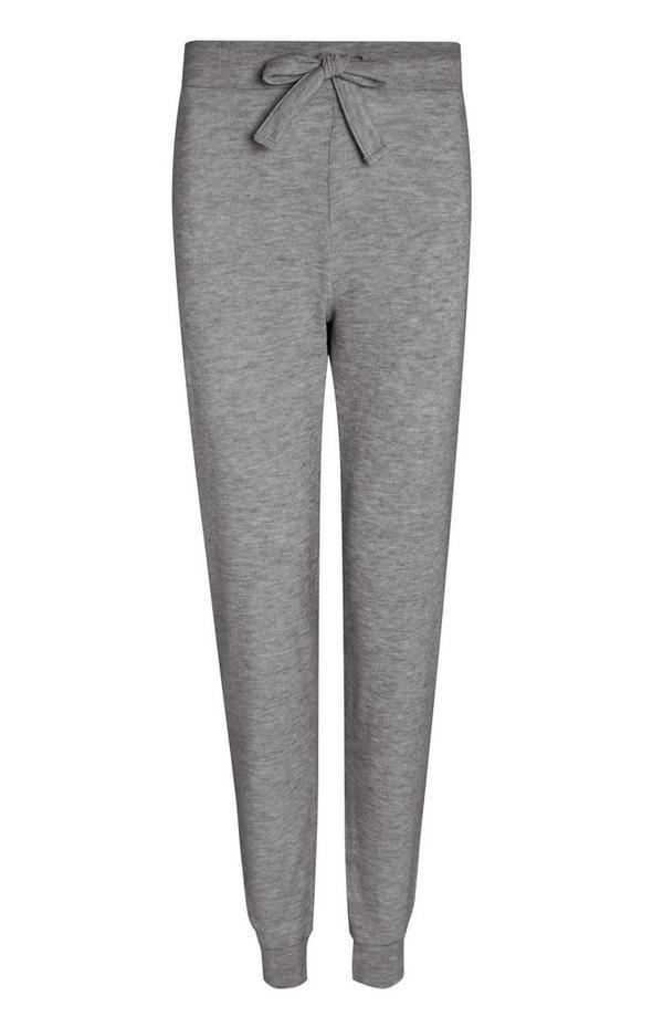 Pantalon de jogging gris en maille