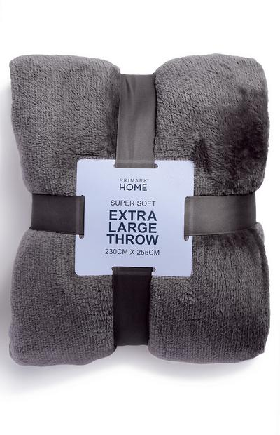 Gray XL Supersoft Throw