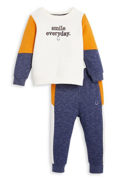 Smile Everyday-sweater en joggingbroek, babyjongens