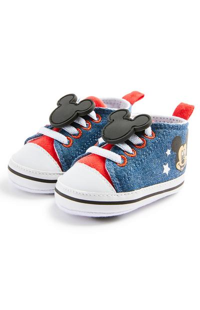 Hoge denim babysneakers Disney Mickey Mouse, jongens
