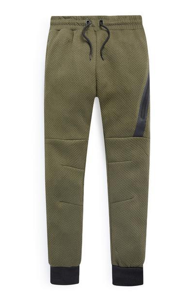 Pantalón de chándal verde para niño mayor