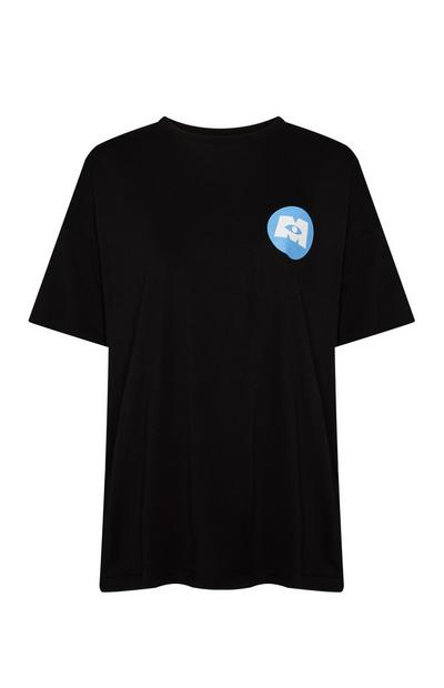T-shirt Mike Monsters Inc preto