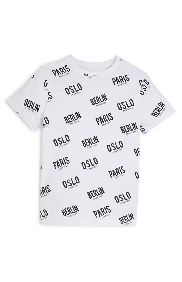 "Weißes ""Travel"" T-Shirt (Teeny Boys)"
