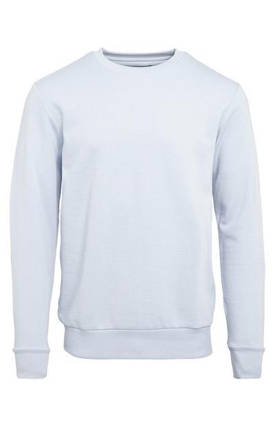 Basic lichtblauwe sweater met ronde hals