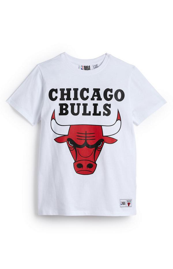 "Weißes ""NBA Chicago Bulls"" T-Shirt (Teeny Boys)"