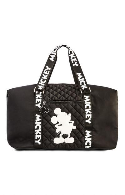 Black Mickey Mouse Nylon Weekend Bag