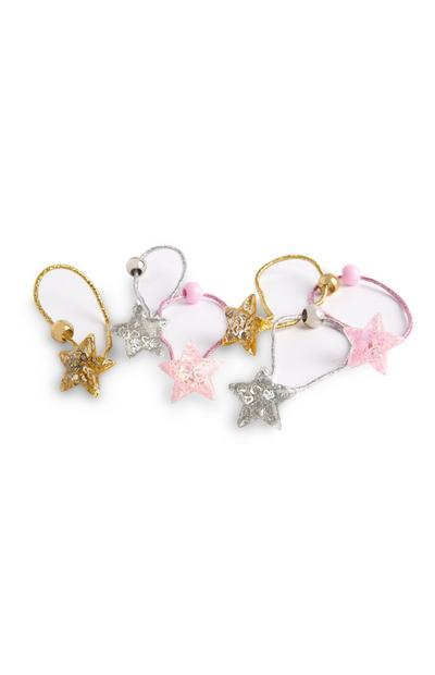 Sprinkle Star Elastic Hair Bands
