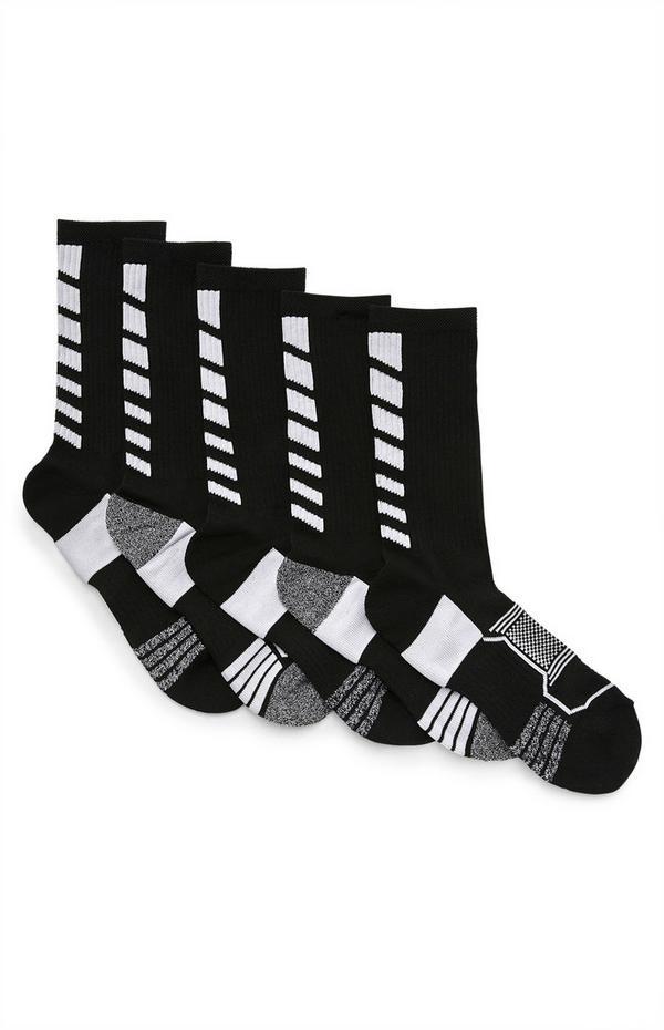 5-Pack Black Performance Socks