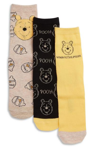 Sokken Winnie de Poeh, 3 paar