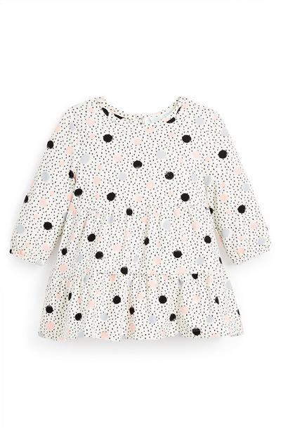 Baby Girl Polka Dot Tiered Dress
