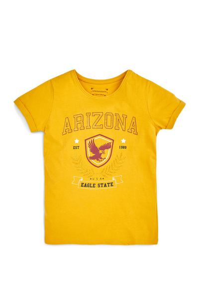 T-shirt jaune Arizona ado fille