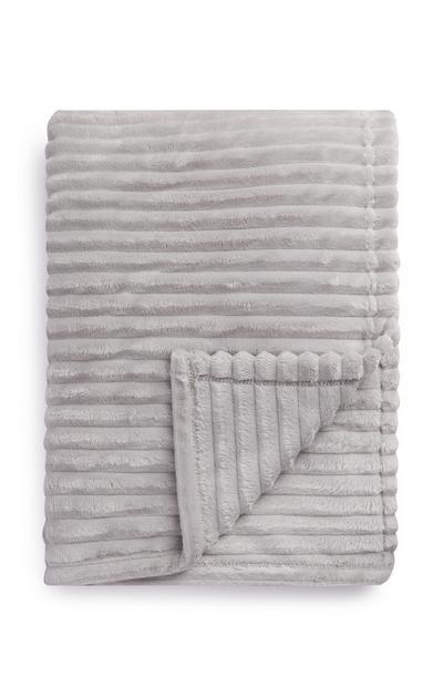 Superzachte witte deken met textuur