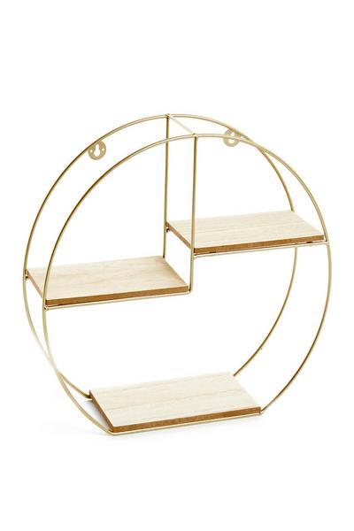 Goudkleurige planken in cirkel