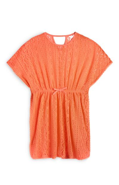 Caftan orange en crochet ado