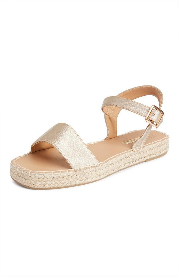 Sandales en jute avec bride à la cheville