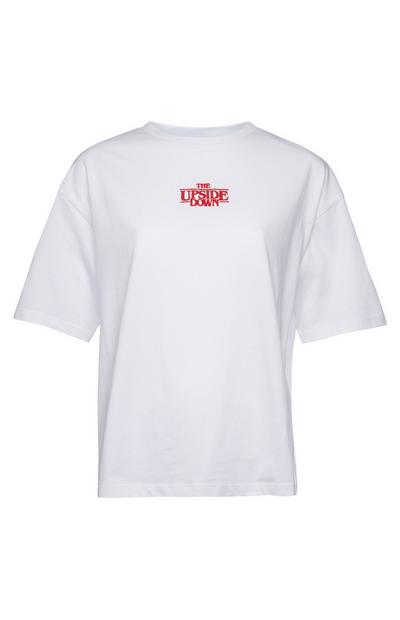 T-shirt blanc The Upside Down Stranger Things