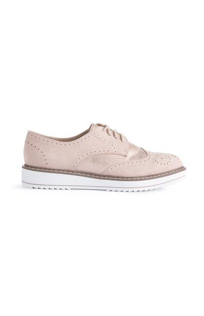Zapatos deportivos estilo brogue color nude