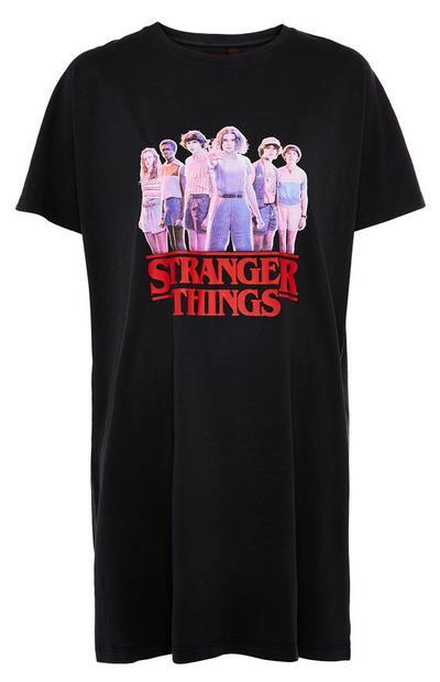 Chemise de nuit noire Stranger Things