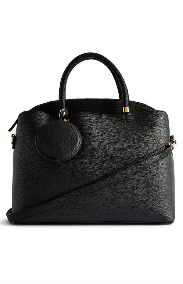 Black Raised Insert Tote Bag