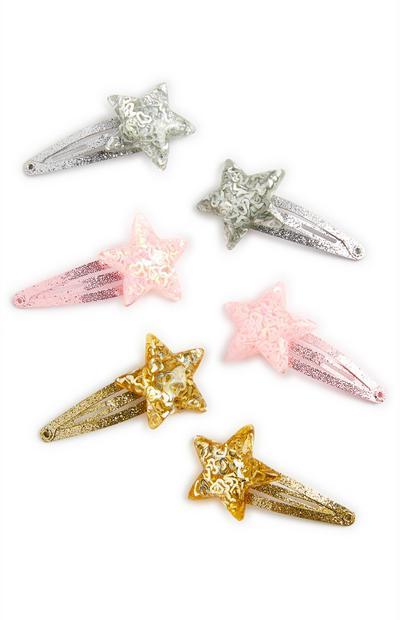 Barrettes à étoile pailletée