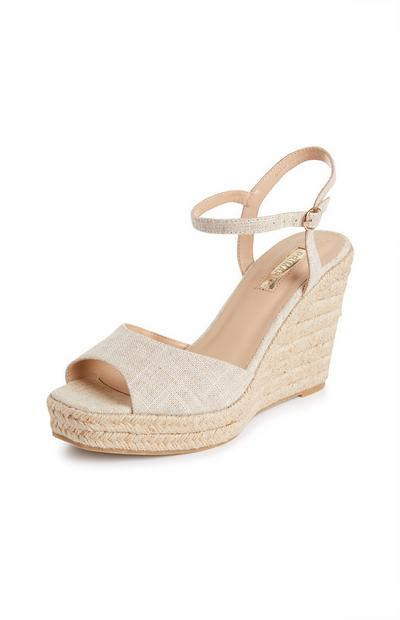 Single Strap Fabric Wedges