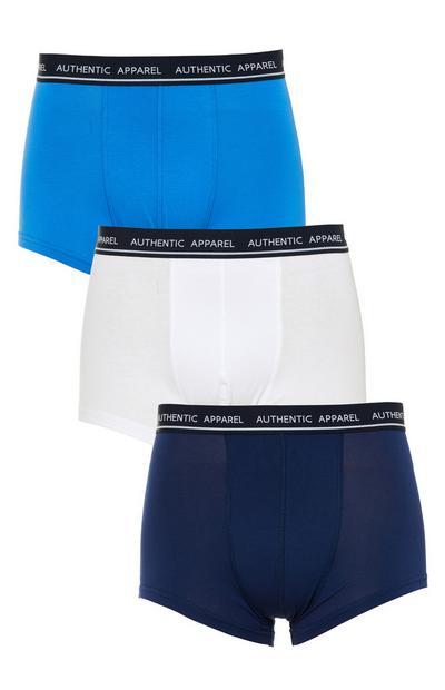 Boxers algodão biológico azul