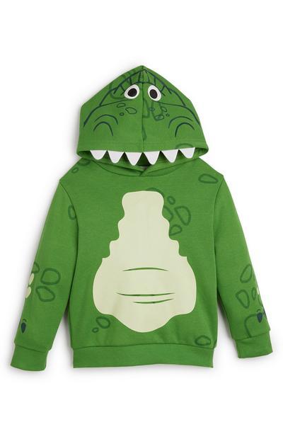 Sweat à capuche vert Toy Story Rex garçon