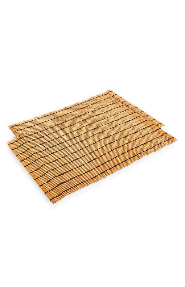 Rechteckige Tischsets aus Holz, 2er-Pack