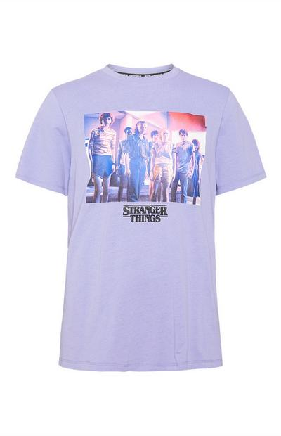 T-shirt bleu clair Stranger Things