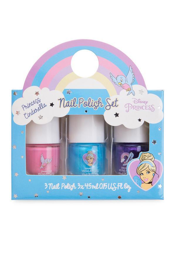 Nagellak Disney Princess Pastel, set van 3