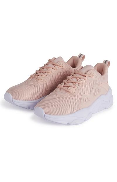 Older Girl Peach Sporty Chunky Phylon Sole Sneakers