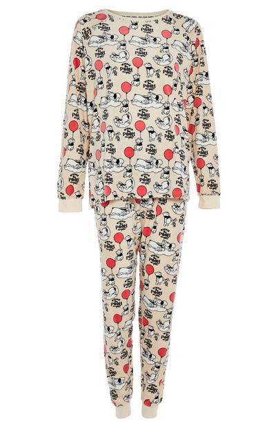 Conjunto de pijama de velvetón en beige de Winnie The Poo