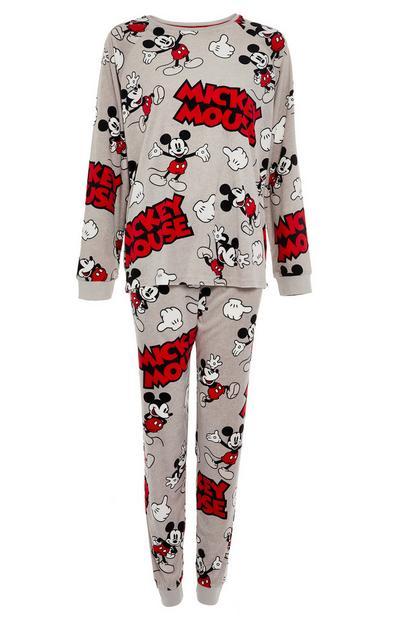 """Graues """"Micky Maus"""" Pyjamaset"""