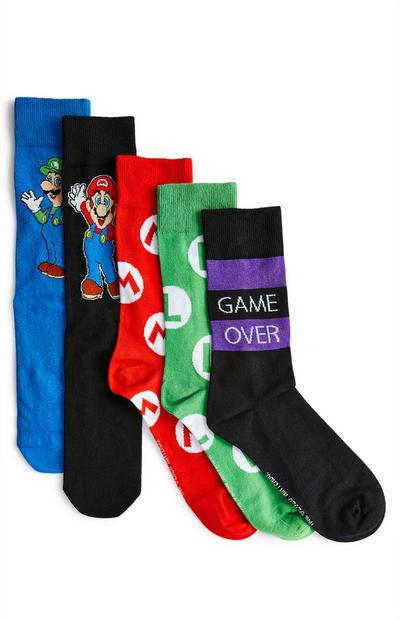 Pack pares meias sortidas Mario