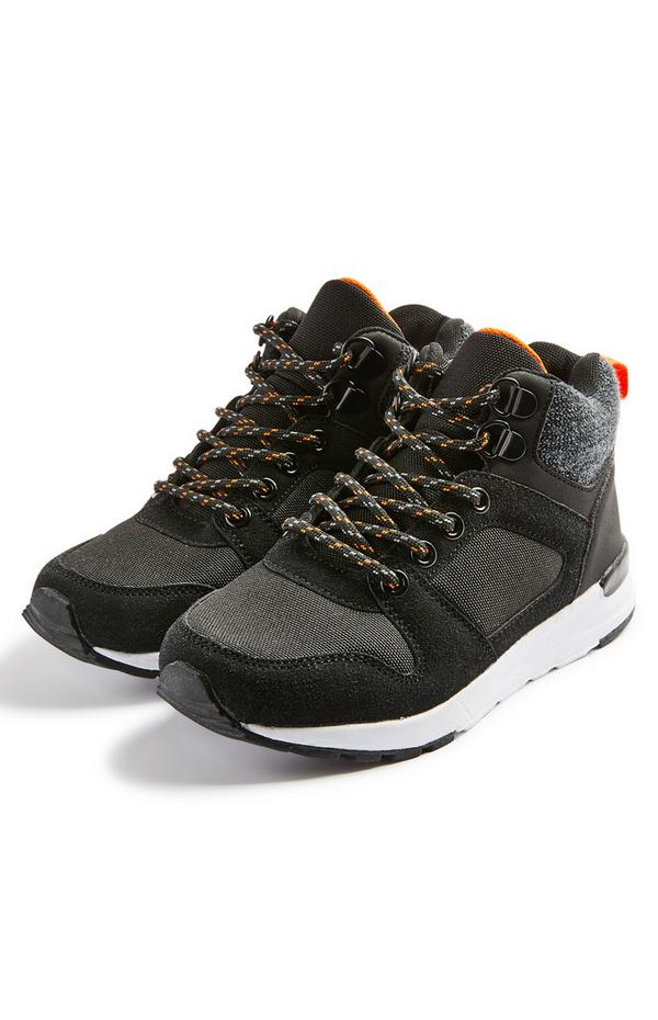 Sivi pohodniški čevlji iz filona za mlajše fante